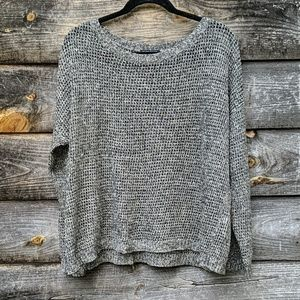 Eileen Fisher Open Knit Wool Linen Long Sleeve